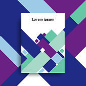 Brochure A4 size template design abstract geometric overlapping layer background