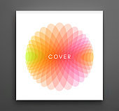 Cover design template. Abstract geometric design. Vector illustration made of various overlapping elements. Applicable for banners, placards, posters, flyers.