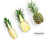 Pineapple fruit creative layout