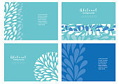 Set of abstract banners templates
