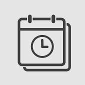 Icon page calendar - timer, time, clock, reminder