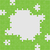 Vector banner background made pieces puzzle jigsaw