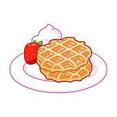 Cartoon Belgian waffles drawing