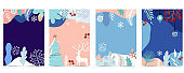 Cute background for social media with flower,leaf,winter,natural