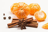 Star anise and cinnamon sticks.