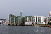 Residential buildings in To Kwa Wan, Kowloon, Hong Kong