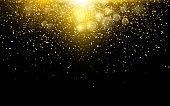 Gold Glitter Dust Texture. Gold Particles. Luxury Design. Vector illustration.