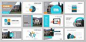 Brochure template design set