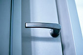 White secure UPVC window with lockable handle