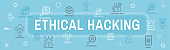 Certified Ethical Hacker - CEH - icon set & web header banner