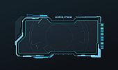 abstract hud ui gui future futuristic screen system virtual design. vector illustration eps10