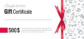 Gift Voucher Templates for Kids and Baby Goods. Gift certificate for a holiday.