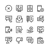 Complaint icons. Vector line icons. Simple outline symbols set