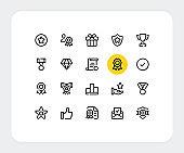 Awards vector line icons. Simple outline symbols. Premium quality. Thin line icons design. Trendy modern linear signs. Vector awards icons set