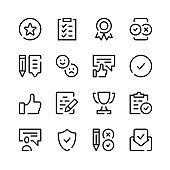 Customer satisfaction icons. Vector line icons. Simple outline symbols set