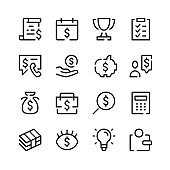 Business advisory icons. Vector line icons. Simple outline symbols set