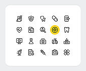 Healthcare vector line icons. Simple outline symbols. Medical concepts. Thin line icons design. Trendy modern linear signs for web and mobile. Vector healthcare icons set