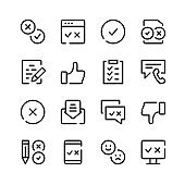 Survey icons. Vector line icons. Simple outline symbols set