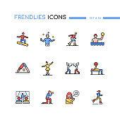 Hobby - modern line design style icons set