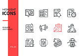 Business and finance - line design style icons set