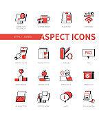 Business - modern line design style icon set