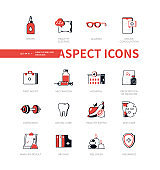 Healthcare - modern line design style icon set