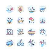 Biodiversity - modern line design style icons set