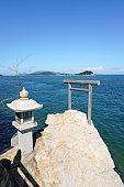 Beachside torii at Takei sea coast