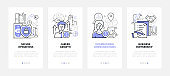 Business - modern line design style web banners