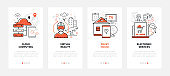 Modern technologies - line design style web banners