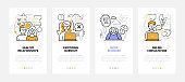 Psychology - modern line design style web banners