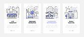 City wayfinding - modern line design style web banners