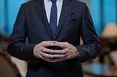 corporate business man hands closeup