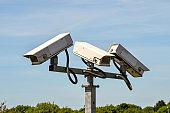 Three remote controlled CCTV cameras