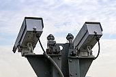 Dual remote controlled CCTV cameras