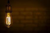 led lamp shining warm light