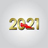 Happy New Years 2021 Celebration Vector Template Design Illustration