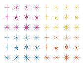 Vector illustration of a star. Glitter.