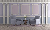 Classic style living room with pastel color