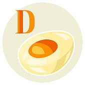 Illustration of stylized egg.