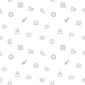 Seamless pattern with Car parts and car service icon on white background.