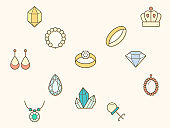 gem and jewelry element Vector illustration.