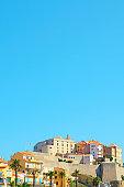 the citadel of Calvi, in Corsica, France
