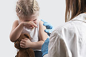 Children vaccination. Healthcare and medical concept. Immunization program from infectious diseases.