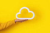 hand holding cloud icon