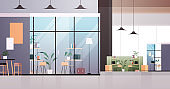 empty coworking center modern office room interior creative open space with furniture horizontal