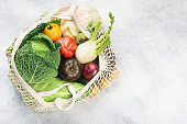 Variety of organic vegetables background, grocery shopping