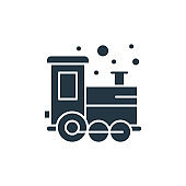 train icon. Glyph train icon for website design and mobile, app development, print. train icon from filled baby shower collection isolated on white background..
