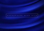 Abstract background luxury blue cloth or liquid wave Texture silk Iuxurious background or elegant wallpaper