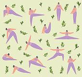 fitness women pattern
